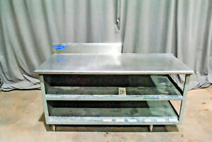 Sturdy Stainless Steel Prep Table Cabinet Shelves 34 Tall 67x30 Surface