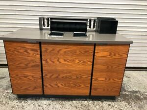 55 X 25 Condiment Coffee Cart Trash Station Drink Prep Cafe Table Cabinet 9855