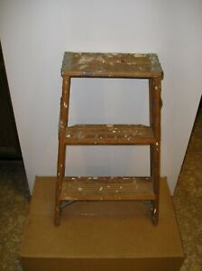 Vintage Werner Wooden 2 Step Ladder