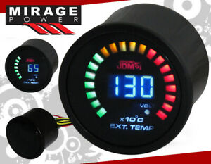 2 52mm Digital Blue Led Exhaust Temperature Egt Racing Monitor Gauge For Acura