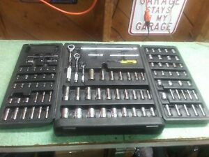 Blackhawk Tools 99 Piece Ratchet Socket Set 1 4 3 8 1 2in Drives Made In Usa