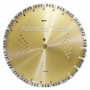 14 Diamond Saw Blade For Hard Concrete Brick Block Pavers 12mmh Free Shipping