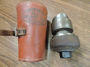 Greenlee No 737 Knockout Punch 2 1 1 2 Conduit W leather Case box