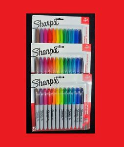 36 Sharpie Fine Point Permanent Markers Assorted Colors free Priority Shipping