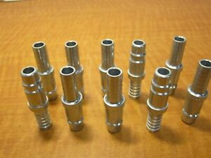 Lot Of 10 Dyna con P582 Pneumatic Air Fittings Male Push on Hose Plugs 1 2 New