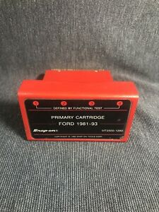 Snap On Mt2500 1293 Diagnostics Scanner Primary Cartridge Ford 1981 93