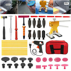 Auto Body Damage Puller Tools Kit Paintless Dent Slide Hammer Removal Set