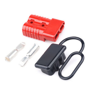 Battery Red Quick Connect Disconnect Plug 175a 600v 2awg Cover Boat Rv Connector