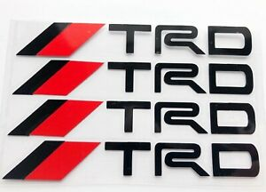 Black Door Handle Vinyl Stickers For Trd Toyota Usa Seller