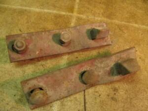 2 International Farmall Cultivator Mounting Brackets