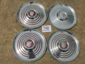 1952 1953 Mercury Montclair Monterey Sun Valley 15 Wheel Covers Hub Caps 4