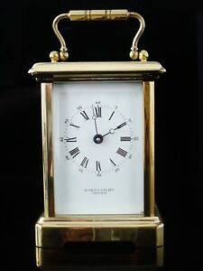 Bornand Freres Brass Carriage Clock For Hamilton Inches Fully Operational