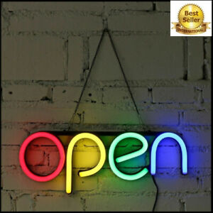 Open Sign Neon Led Light Bulb Handmade Commercial Lighting Business Shop Display