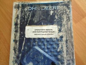 John Deere 4930 Self Propelled Sprayer Factory Operators Manual 536 Pgs Oem