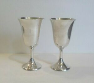 Pair Manchester 808 Sterling Silver 6 75 Wine Goblets 325 Grams