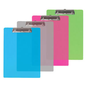 New 401612 Standard Size Plastic Clipboard W Low Profile Clip 48 pack