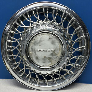 One 1991 1993 Dodge Caravan Dynasty 473c 14 Wire Hubcap Wheel Cover Used