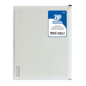 New 401886 Clear Letter Size Zip Envelope 24 pack Binders Cheap Wholesale