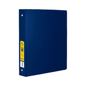 New 402030 1 5 Inch Blue 3 Ring Binder W 2 Pockets 12 pack Office Supply