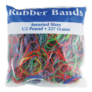New 402066 Assorted Dimensions 227g 0 5 Lbs Rubber Bands 48 pack Rubber