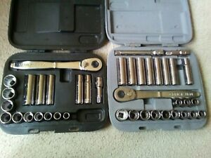 Craftsman Socket Ratchet Sets Sae Metric Made In Usa 40 Pieces Plus Cases