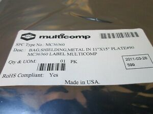 100 Pack Multicomp Mc36360 Metal in Static Shielding Bags 11 X 15 Made Is Usa