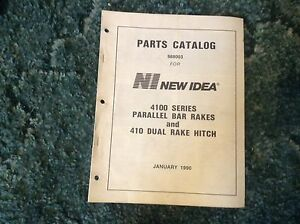 988003 A New Parts Manual For A New Idea 4100 Series Parallel Bar Rakes 410