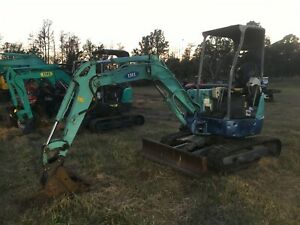 Ihi 25n Rubber Track Mini Excavator 16 Bucket approx 10 Dig Zero Tail Spin
