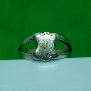 Genuine Medieval Decorated Silver Ring Complete 18 5 Mm Inner Diameter