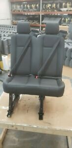 Ford Transit Oem Seat Black Leather 31 Dual Passenger Left Driver Universal
