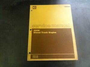 Caterpillar Cat 3208 Diesel Truck Engine Service Manual 32y 51z