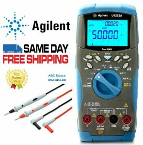Agilent U1252a True Rms Digital Mutlimeter Agilent Test Leads Usa Seller Fluke