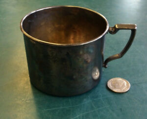 Antique Nursery Silver Plate 15204 Child S Baby Cup Silverplate Rbe