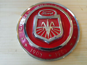 1950 Golden Hood Emblem Ford Tractor Jubille See All Pictures