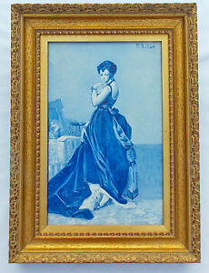 Jules Loebnitz Maison Pichenot Antique French Tile Mid 1860 S