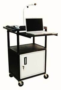 42 In Av Presentation Cart W Cabinet id 32728