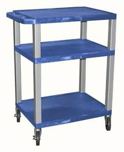 Tuffy Av Cart W 3 Plastic Blue Shelves id 56891