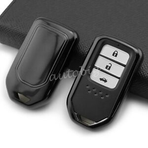 For Honda Smart Car Key Fob Cover Case Holder Protector Accessories Black