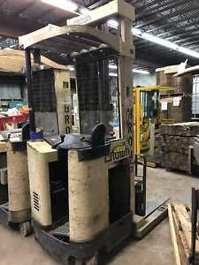Used Crown Rr3020 45 s Narrow Aisle 36v Electric Stand up Reach Forklift Charger