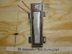 Oem 79 85 Eldorado Biarritz Rear Courtesy Opera Light Bezel Trim Wood Grain