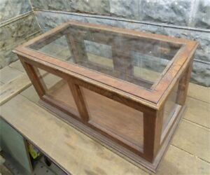 Wooden Framed Glass Showcase Vintage Country General Store Counter Display P