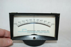 Vintage Boonshaft And Fuchs Inc Microamperes Meter Untested Ua Dc