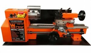 Wen Metal Lathe Benchtop 7 In X 12 In 2 direction 3 jaw Chuck Variable Speed