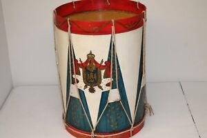Vintage Trouvailles Inc Military Drum Side Table Made In Usa