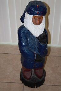 32 Inch Old Bearded Sailor Wood Chainsaw Carving Decor Nautical Gnome