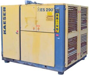 Kaeser Es 290 200hp 3 ph 460v 125 Psig 955 Cfm Rotary Screw Air Compressor As is