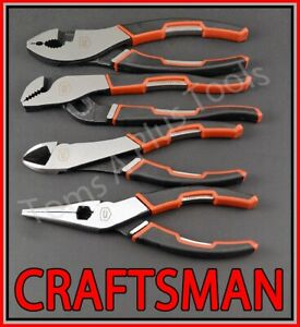 Craftsman Hand Tools 4pc 6 Needle Nose 6 3 4 Slip Joint 6 Diagonal Plier Set