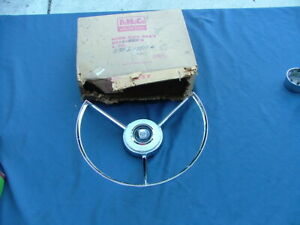 1958 Ford Horn Ring Assembly Nos Button Cap