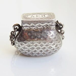 Antique Georgian Sterling Silver Ladies Purse Vinaigrette C1820 By Ledsam