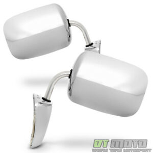 L r Chevy Blazer gmc Jimmy Pickup Truck Chrome Manual Side View Door Mirrors